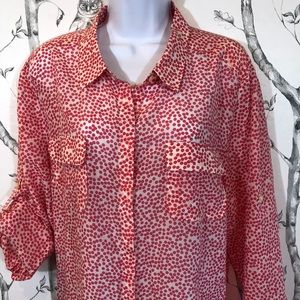 ANN TAYLOR Women's Button Down Blouse